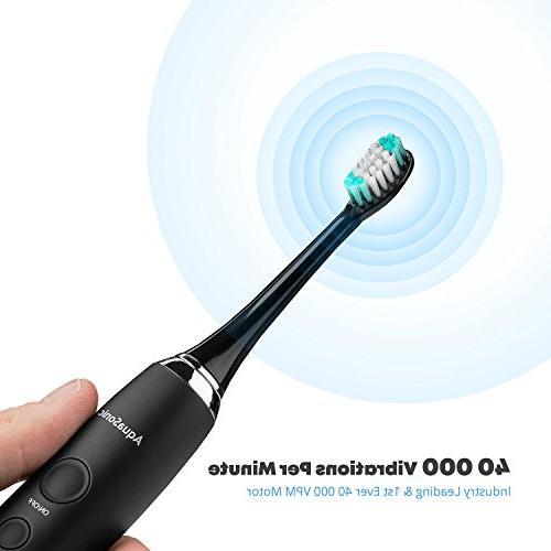 AquaSonic Series Whitening DuPont Brush Travel Case Ultra Motor & Wireless Charging - 4 Smart Timer - Electric