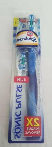 Arm & Hammer Spinbrush Sonic Pulse Powered Toothbrush w/Repl
