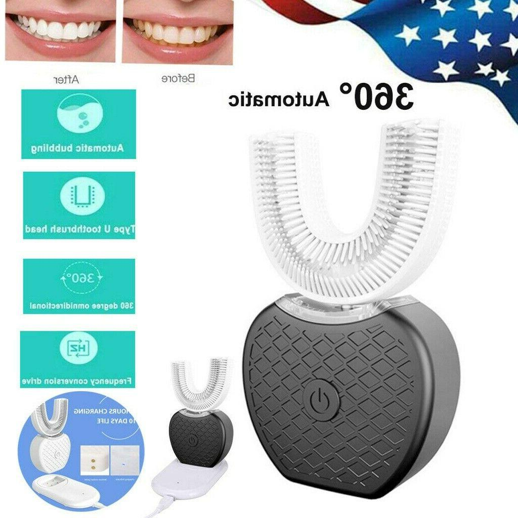 electric toothbrush 360 rotating automatic sonic teeth