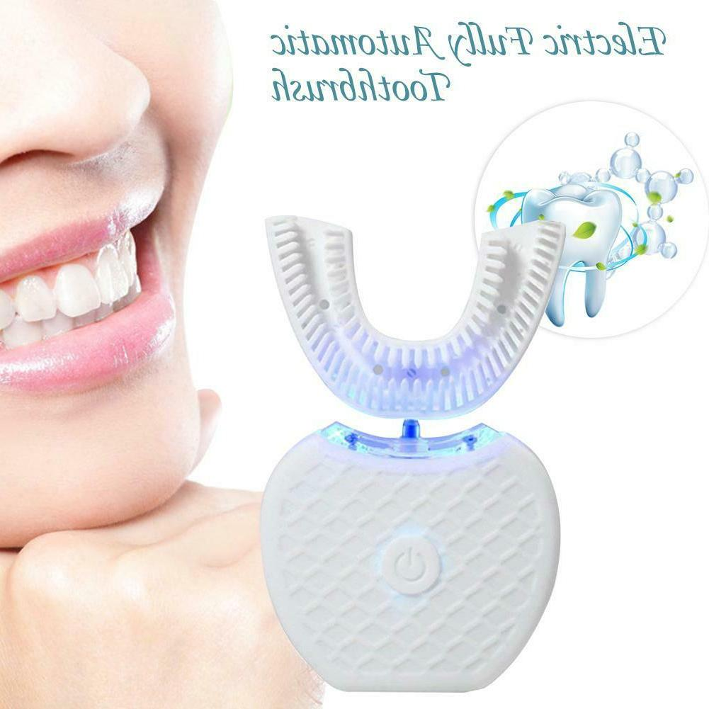 Automatic 360°Electric Toothbrush Teeth Nano Blue