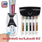 Automatic Toothpaste Dispenser + 5 Toothbrush Holder Set Wal