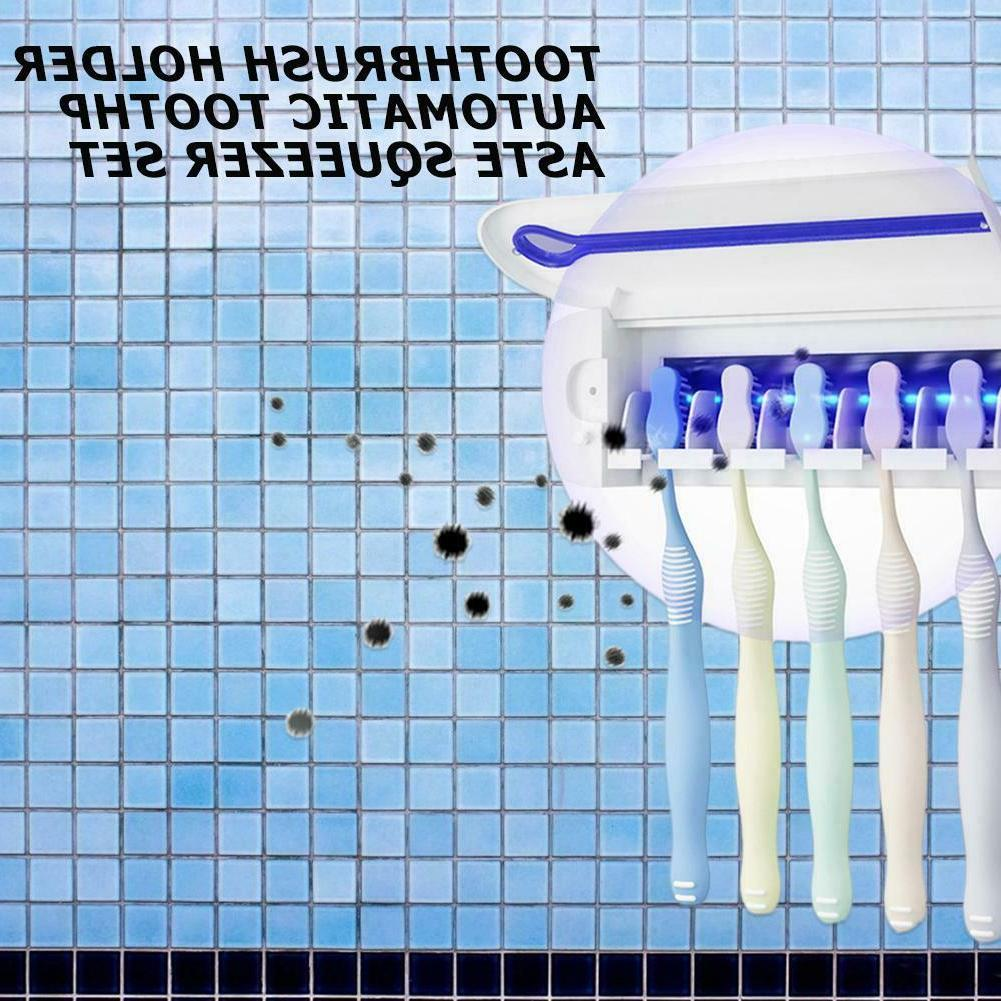 Automatic Dispenser 5 Toothbrush Holder Wall