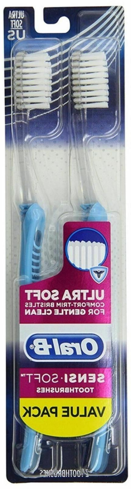 Oral-B Sensi-Soft Toothbrush Twin Pack, Colors May Vary