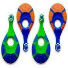 Baby Toddler Toothbrush 4 Pack - Soft Bristles Teething Fing