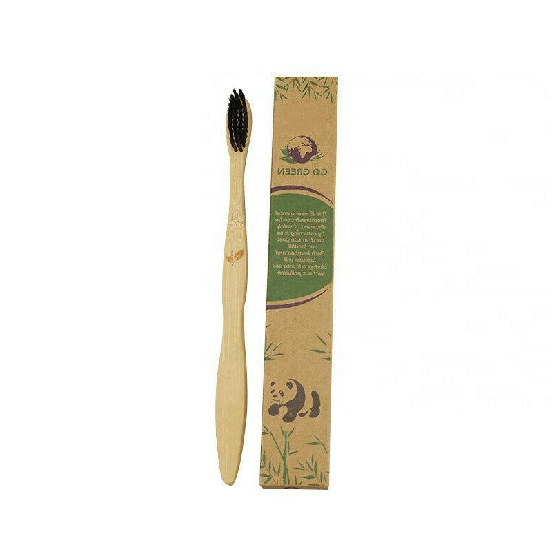 Bamboo Toothbrush 100% Natural ECO Friendly NEW Adult