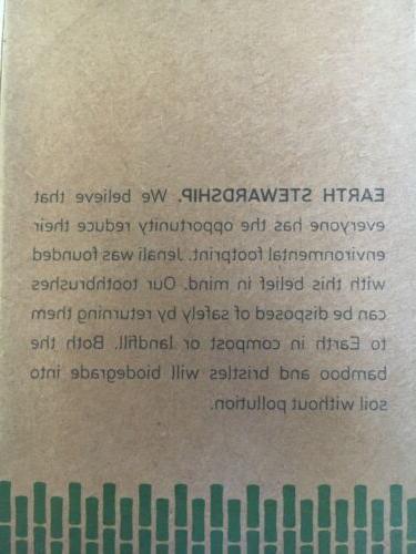 Bamboo Toothbrush Natural Organic Charcoal ECO