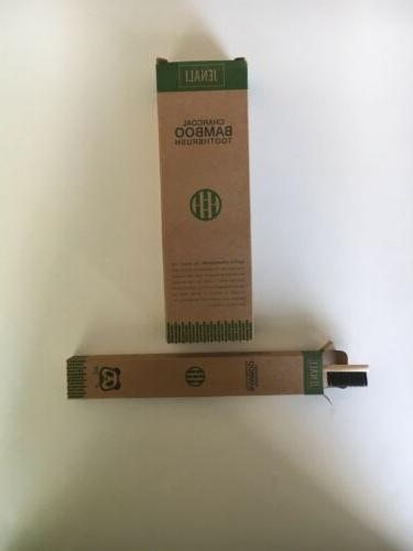 bamboo toothbrush 4 pack natural organic charcoal