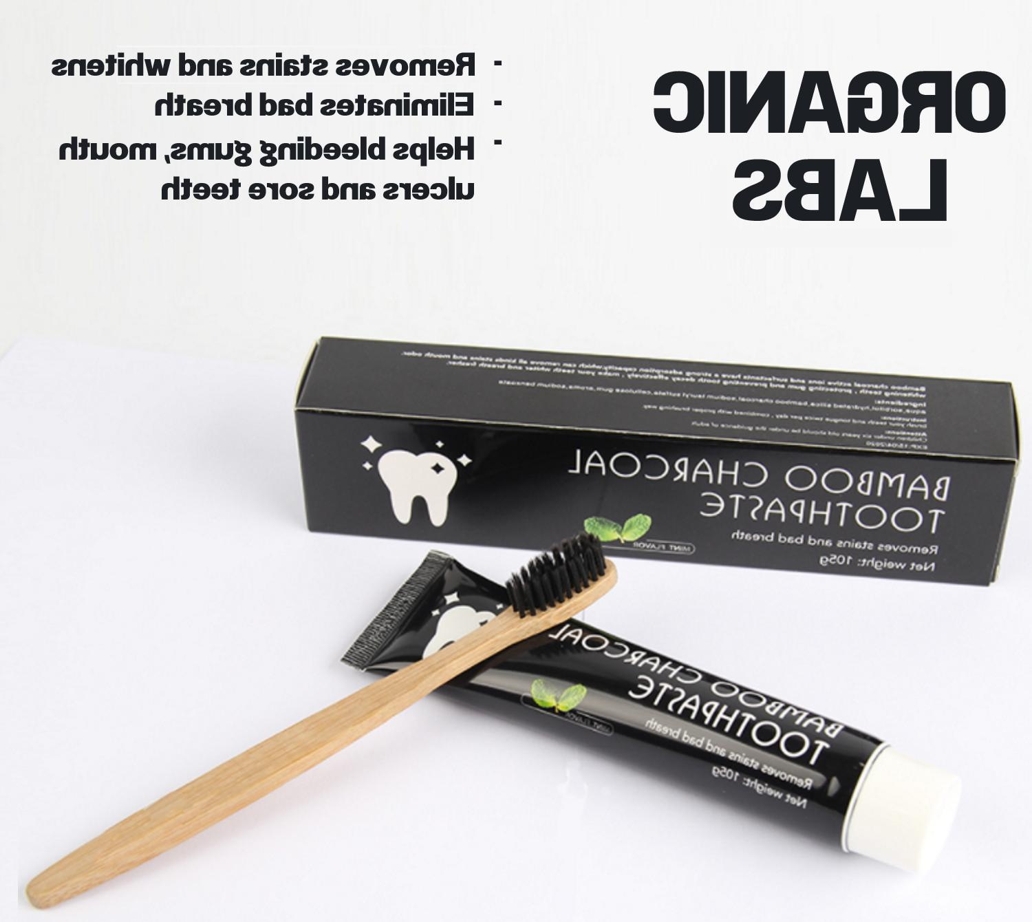 ACTIVATED CHARCOAL TEETH WHITENING CHARCOAL TOOTHPASTE POWDE