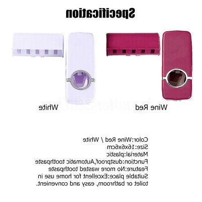 Toothbrush Holder Set Wall Mount Stand