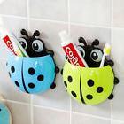 Bathroom Ladybug Toothbrush Holder Suction Ladybird Toothpas