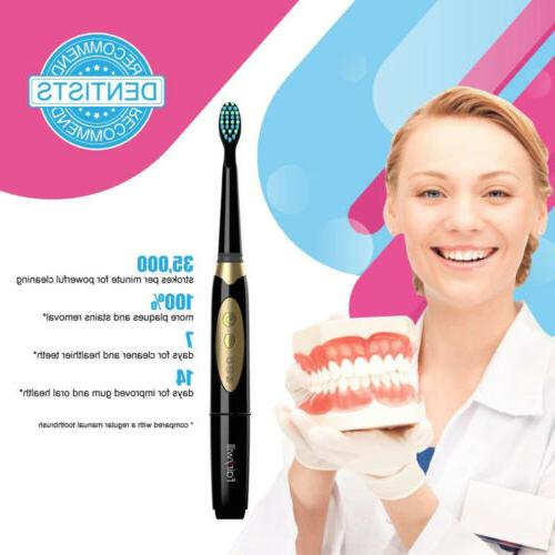 Fairywill Sonic Toothbrush Battery Powered 3 Modes