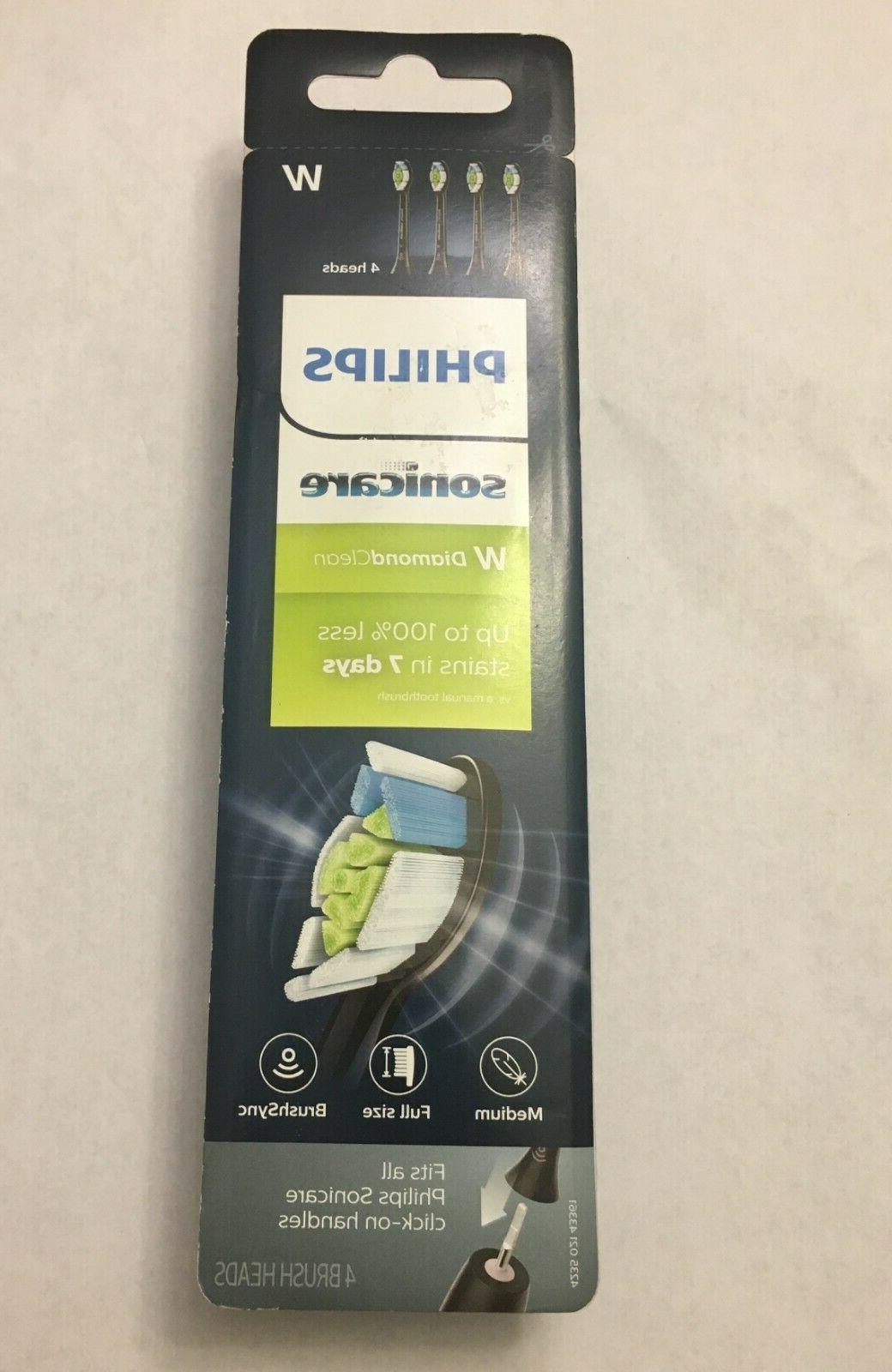 4 SONICARE BLACK EDITION DIAMONDCLEAN REPLACEMENT TOOTHBRUSH