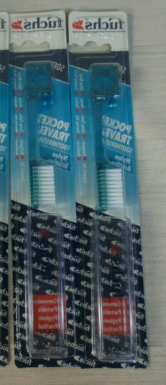 Fuchs Brushes Pocket Nylon Travel Toothbrush