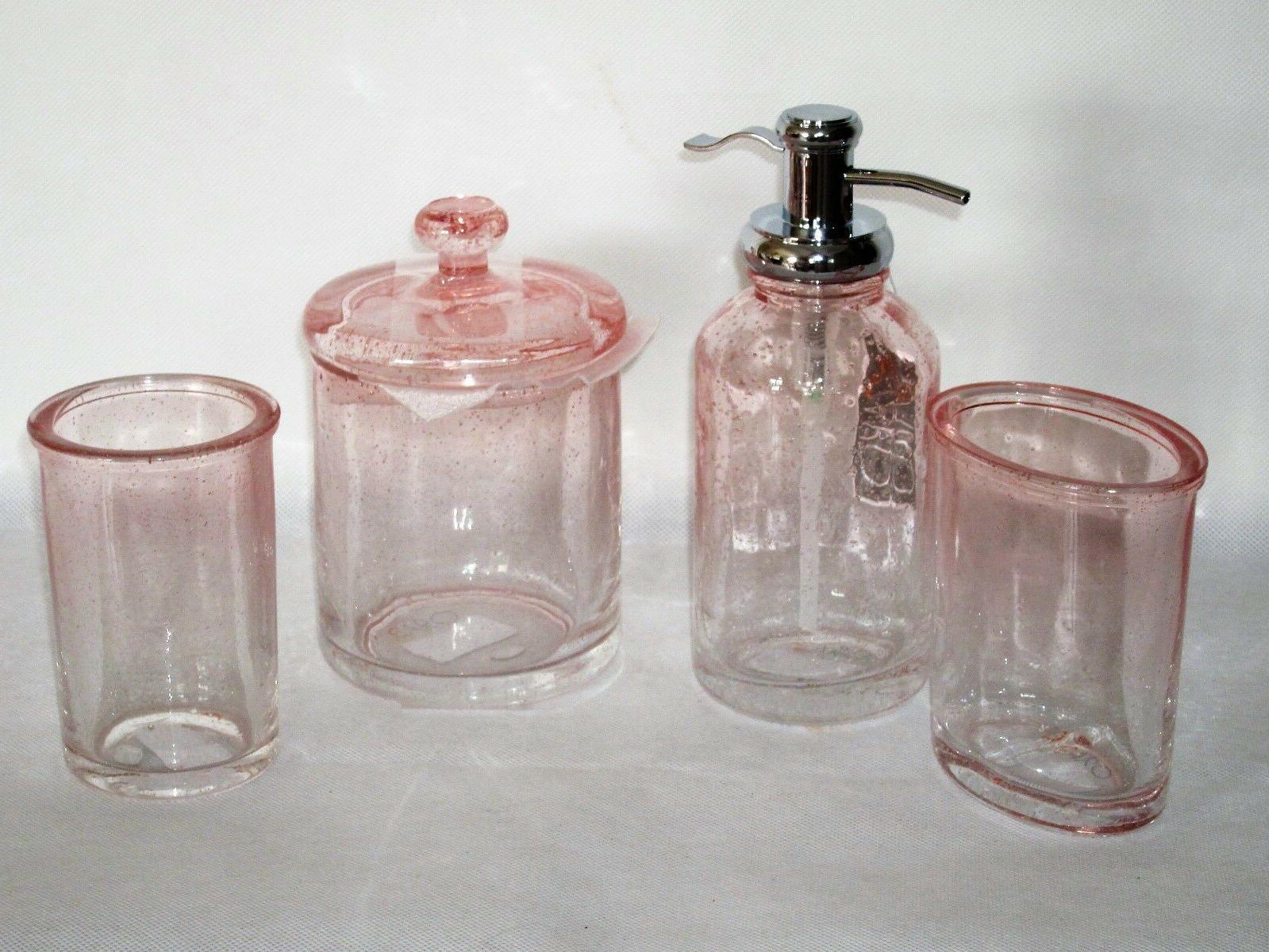 caro bath accessory set bubble glass ombre