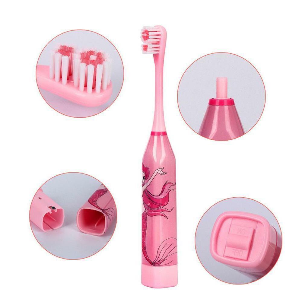Children Ultrasonic Tooth Brush w/ 2 Brush Heads