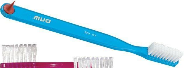GUM Classic toothbrush soft full head 411PC Adult- Color Wi