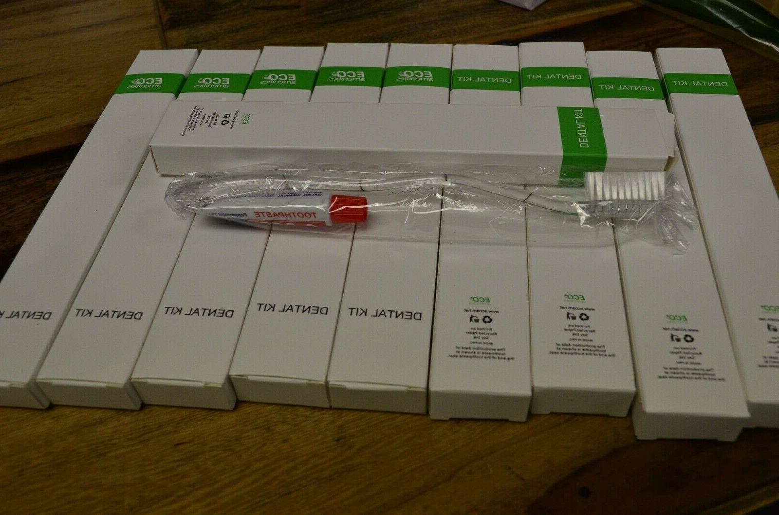 Eco Amenities Dental Kit  Toothbrush , mini toothpaste