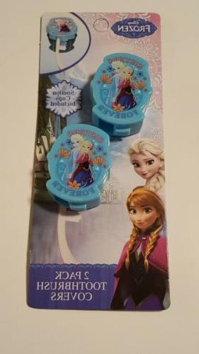 Disney Frozen girls 2pk toothbrush covers with Suction cups