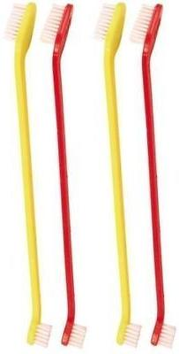 Dog & Cat Toothbrush 4 Pack Double Ended Large Small LONG Ha