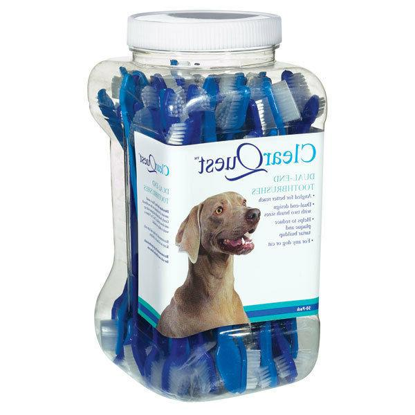 Dog Cat Dental Toothbrush - ClearQuest - Dual End - Choose Q