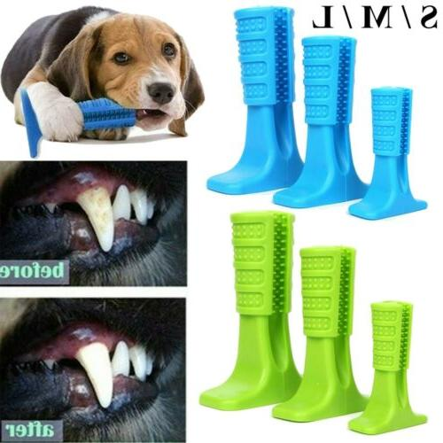 dog toothbrush chew stick cleaning toy silicone