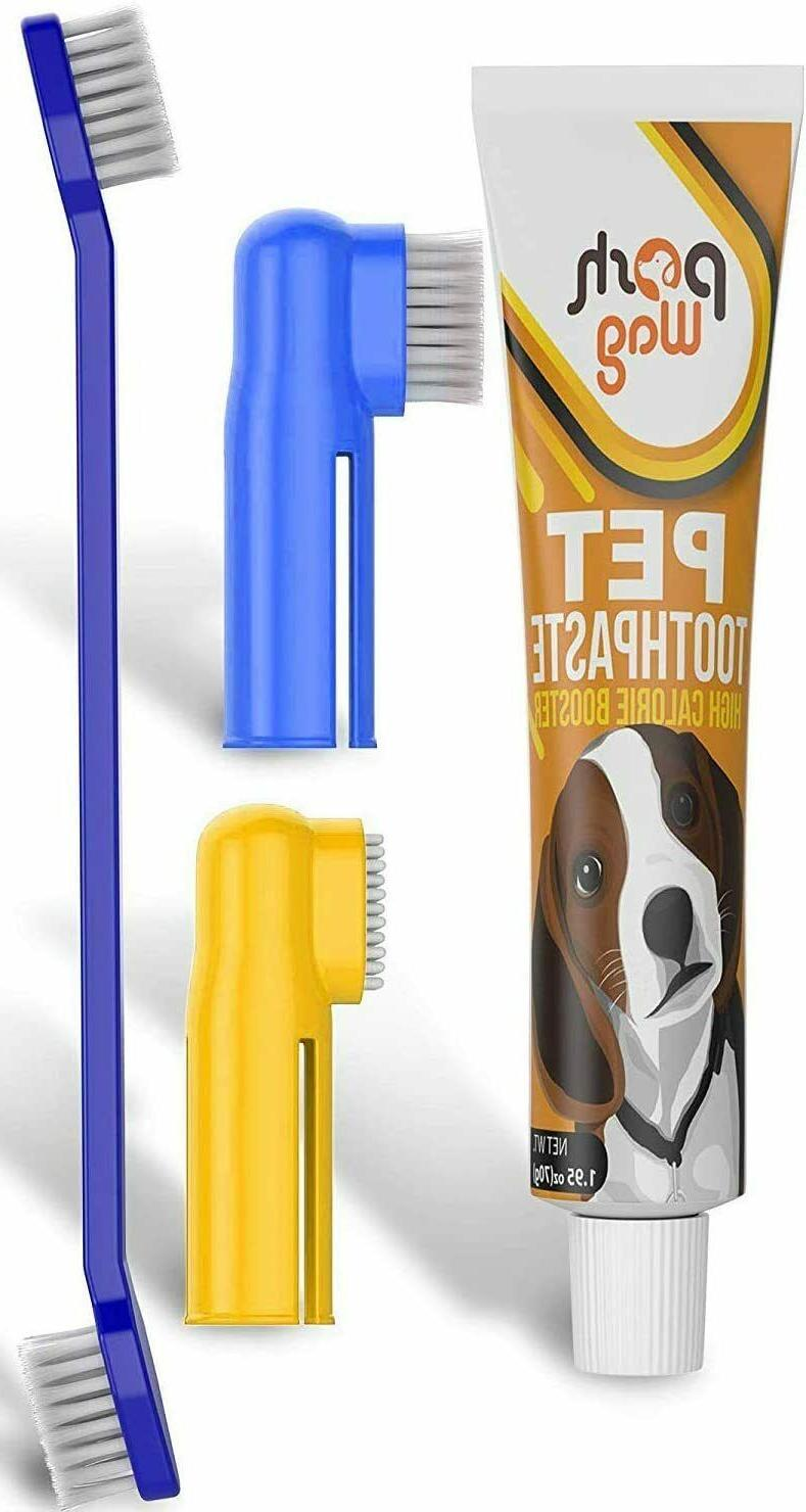 DOG TOOTHPASTE TOOTHBRUSH KIT Teeth Cleaning Fresh Breath Ch