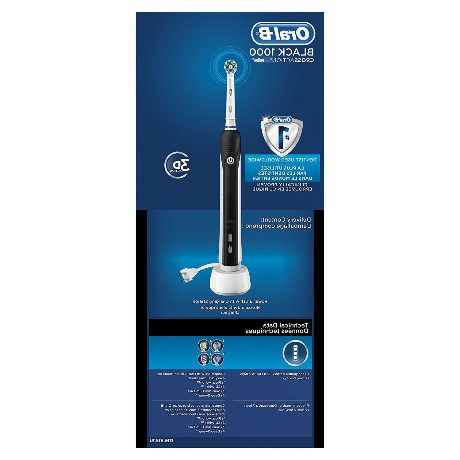 Electric Toothbrush Oral B Pro 3D Action Black New