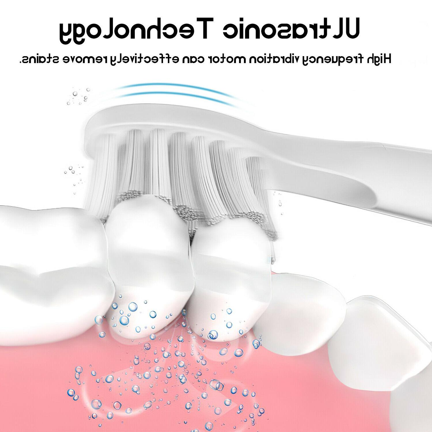 Electric Toothbrush 6 Cleaning Brush Battery