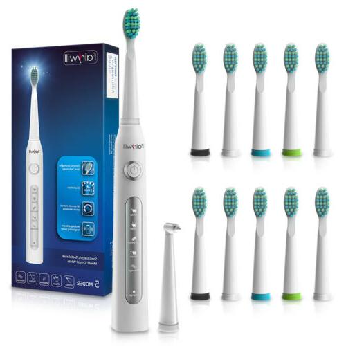 Fairywill Electric Toothbrush 5 Modes Usb Fast Charging 10 S