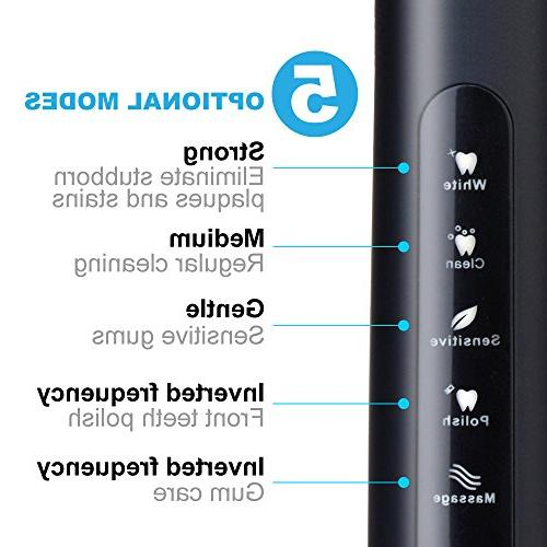Electric Toothbrush Clean Dentist Sonic Toothbrush with Smart Hours Charge Days Use 5 Optional Modes Waterproof Fully by