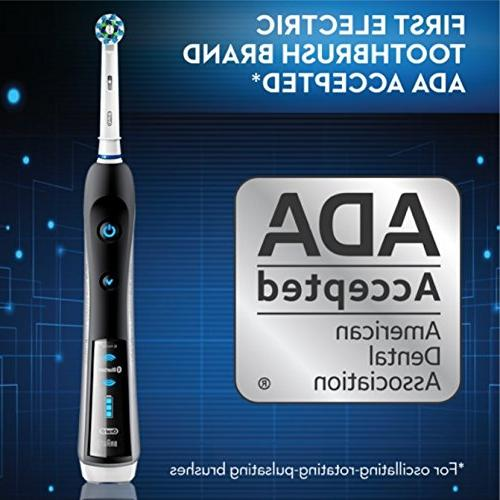 Oral-B SmartSeries Rechargeable Power with 3 Brush Heads, Bluetooth Connectivity Case, by Braun
