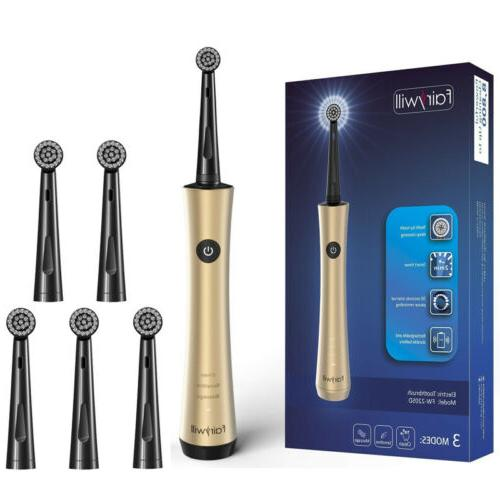 Fairywill Rotary Electric Toothbrush 6 Brush Heads 3 Modes R