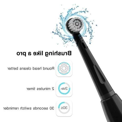 Electric Toothbrush Waterproof Rotating Mode Black Fairywill