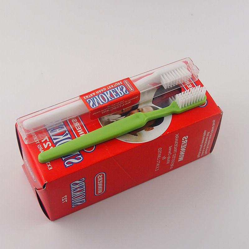 12PCS/Box Dr.Perfect Adult Extra Hard Toothbrush For Smokers