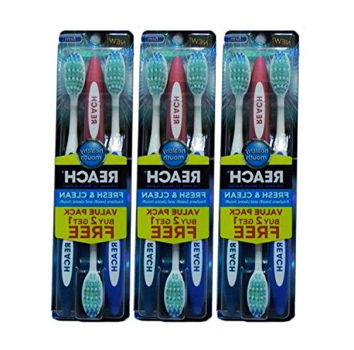 fresh clean toothbrushes