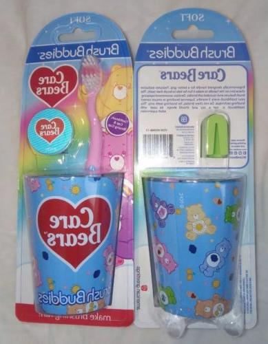 girls care bears toothbrush cap and cup