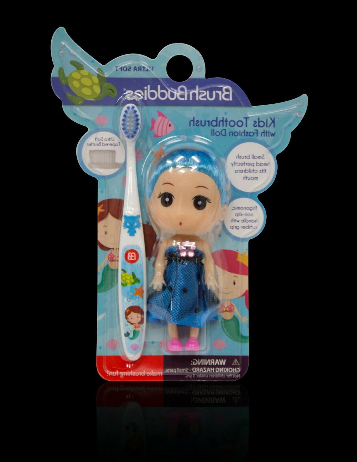 girls kids owls toothbrush with fashion doll