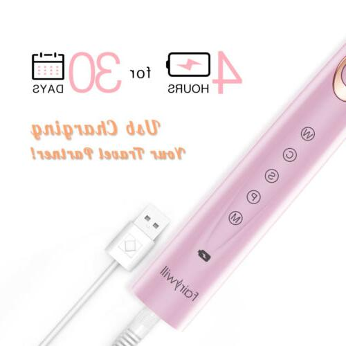 Fairywill Sonic Toothbrush Rechargeable IPX7 Girl