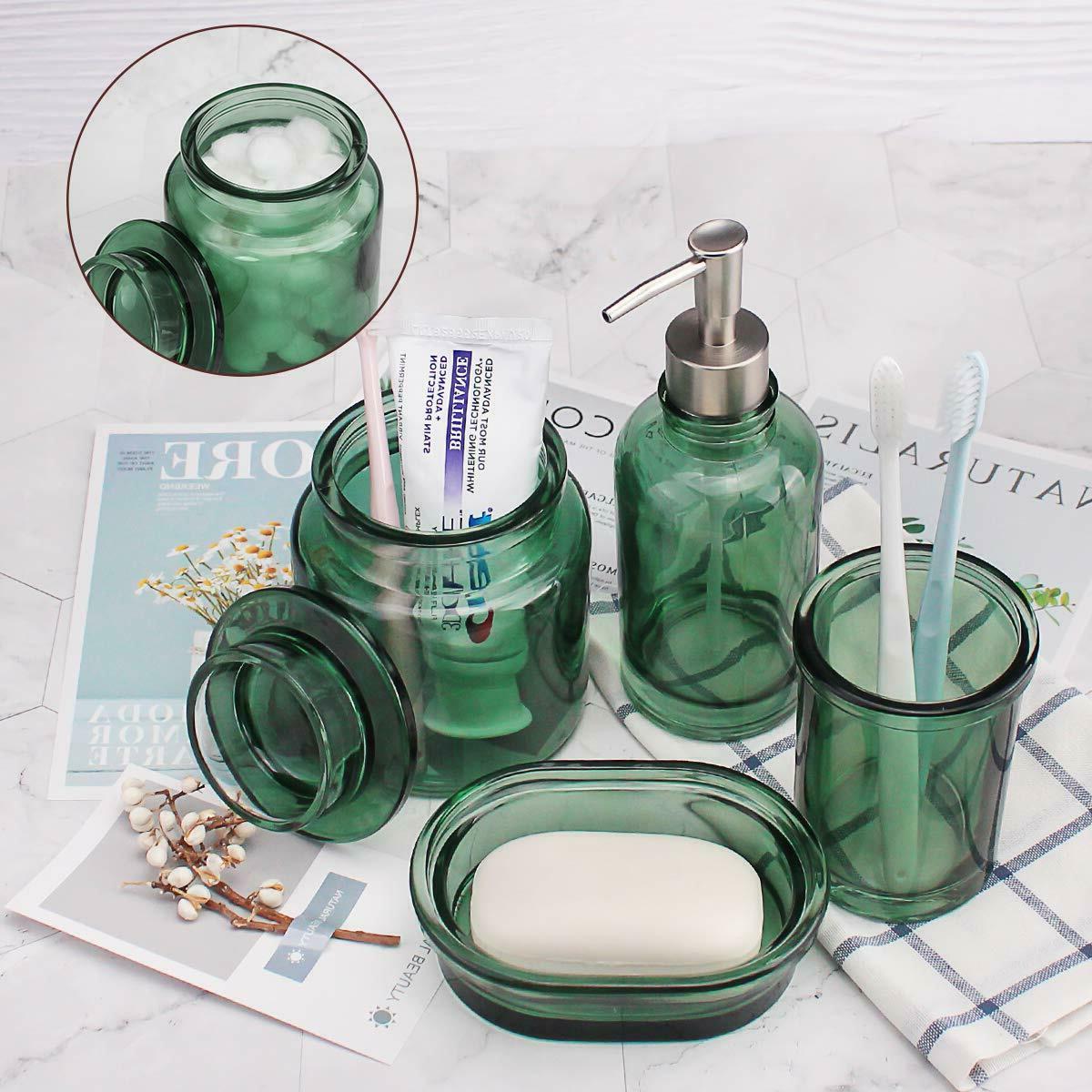 Glass Soap Dispenser, Dish Toothbrush Holder, Tumbler
