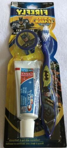 Justice League Batman Toothbrush Travel Kit blue Tooth Paste