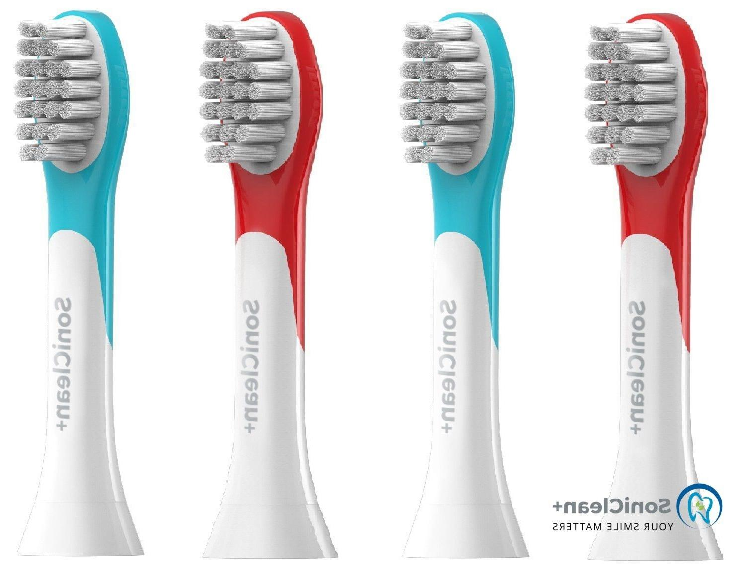 KIDS TOOTHBRUSH REPLACEMENT HEADS for PHILIPS SONICARE 4 pc