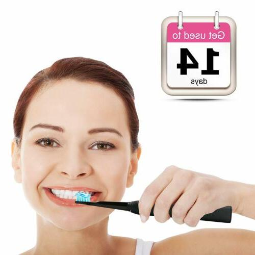 Fairywill Electric Toothbrush Rechargeable Travel 8 Brush Heads