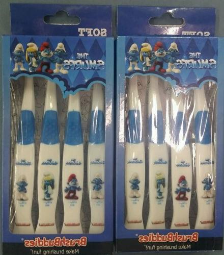Brush Buddies Manual Toothbrush - Smurfs - 8 Pack - Soft
