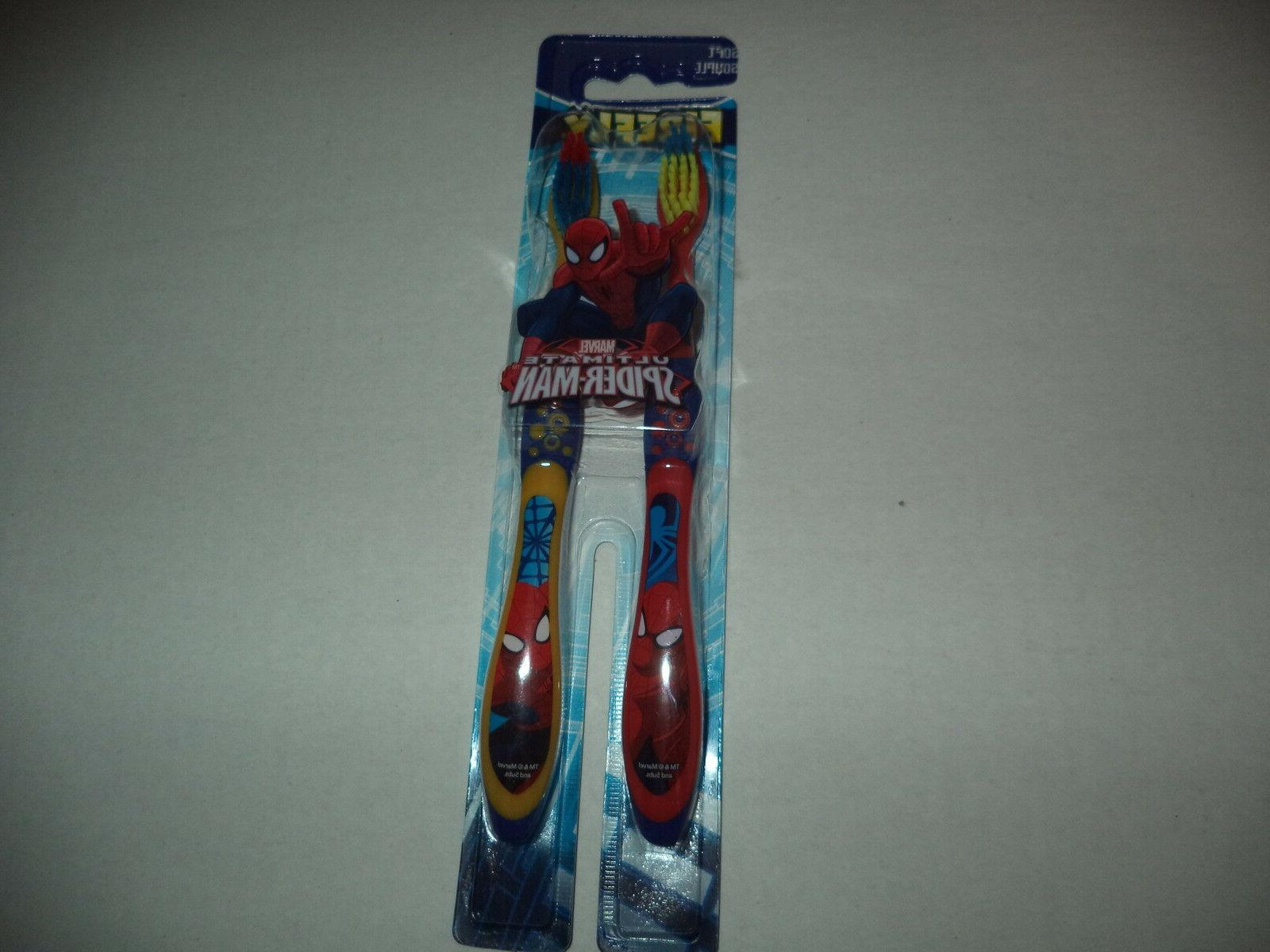 Firefly Marvel Two Ultimate Spider Man Soft Bristle Red And