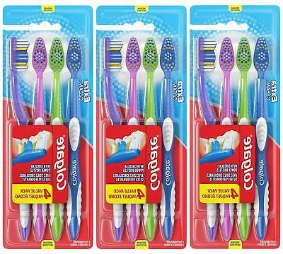 Colgate Med Full Head Extr Clean Tthbrsh 4 Ct