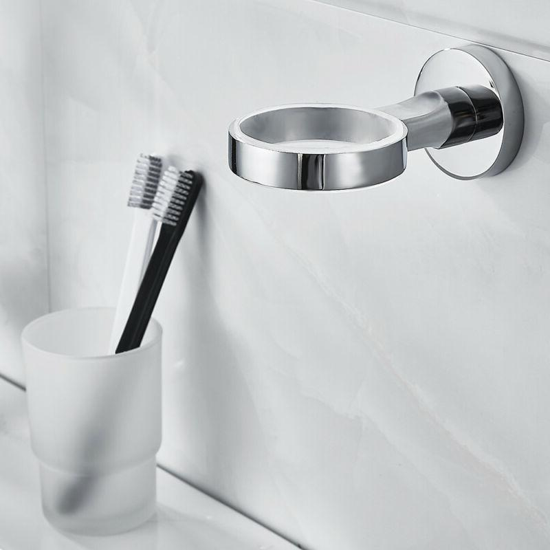 Mordern Accessory Drinking Glass Tumbler Toothbrush Chrome
