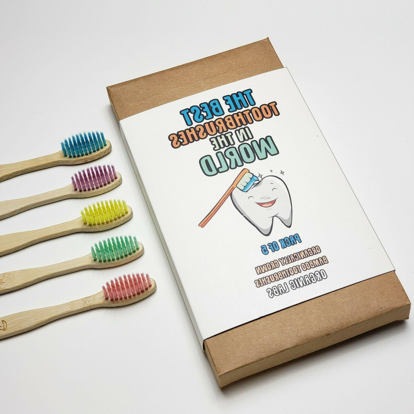 Natural Bamboo Toothbrush Free of 5 Labs
