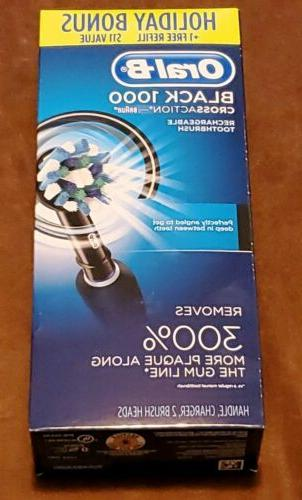 NEW Oral-B 1000 Power Rechargeable Toothbrush Powered