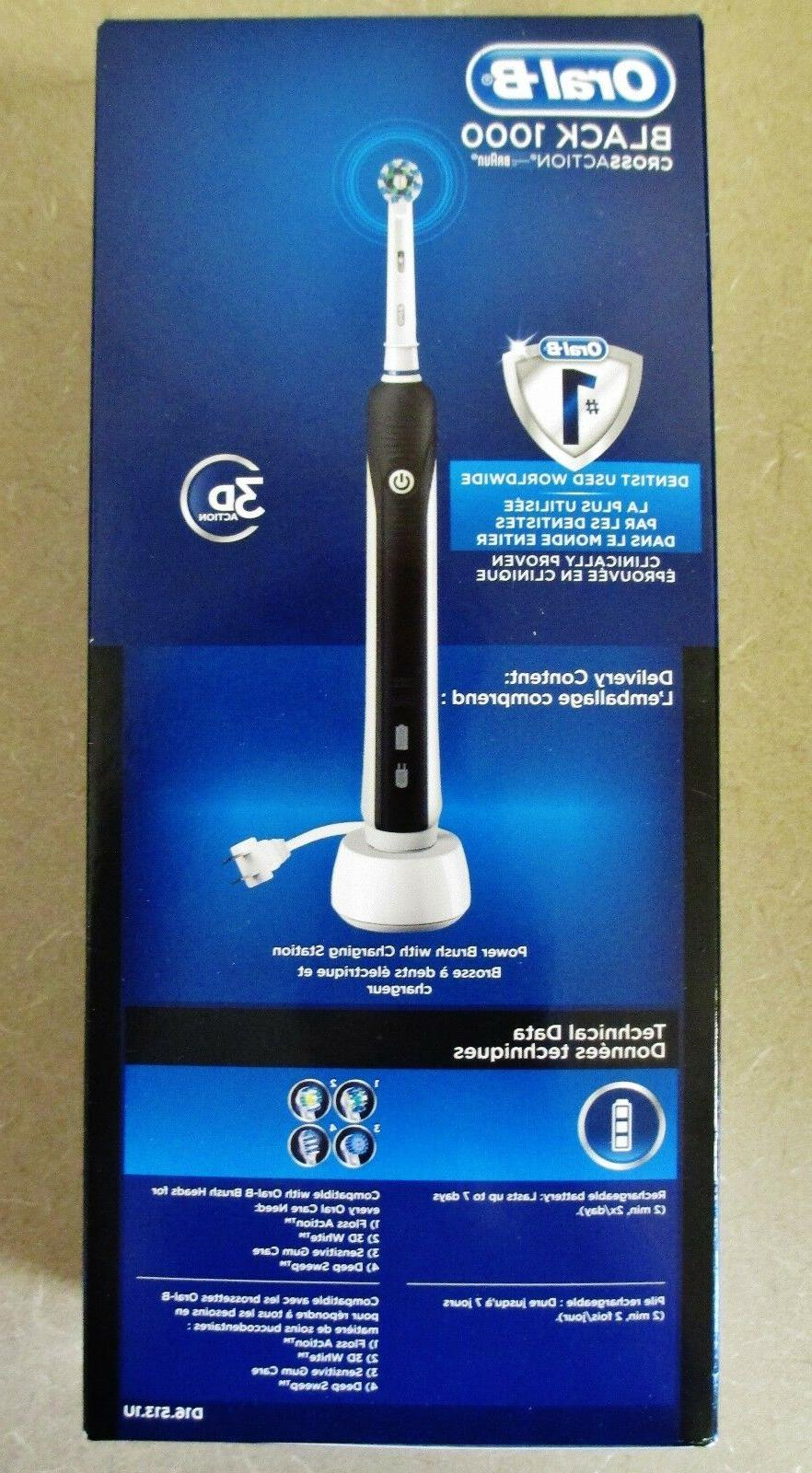 New Oral-B BLACK Rechargeable Free
