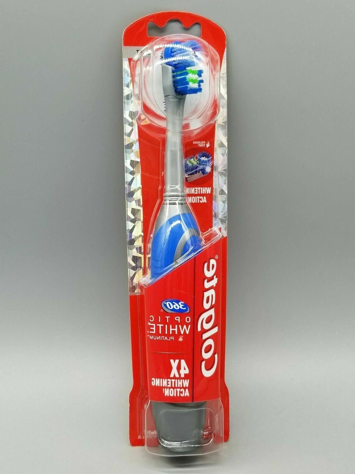 Colgate 360 Optic White Battery-Powered Toothbrush, Soft, 1